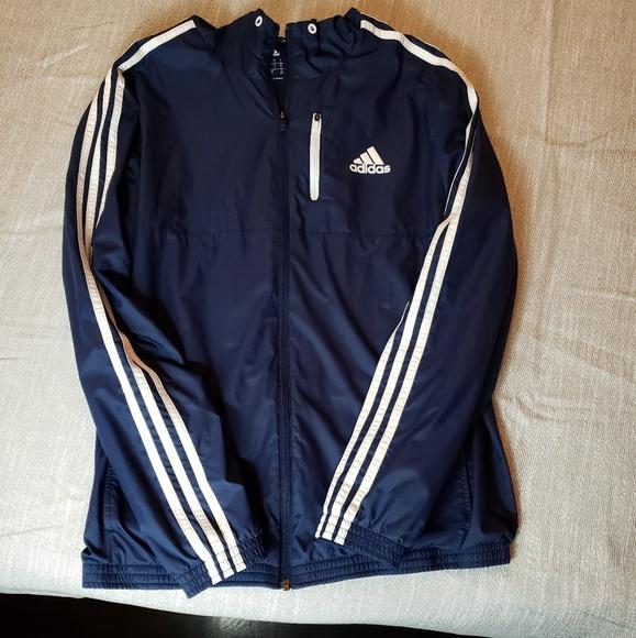 Classic Adidas windbreaker hoodie